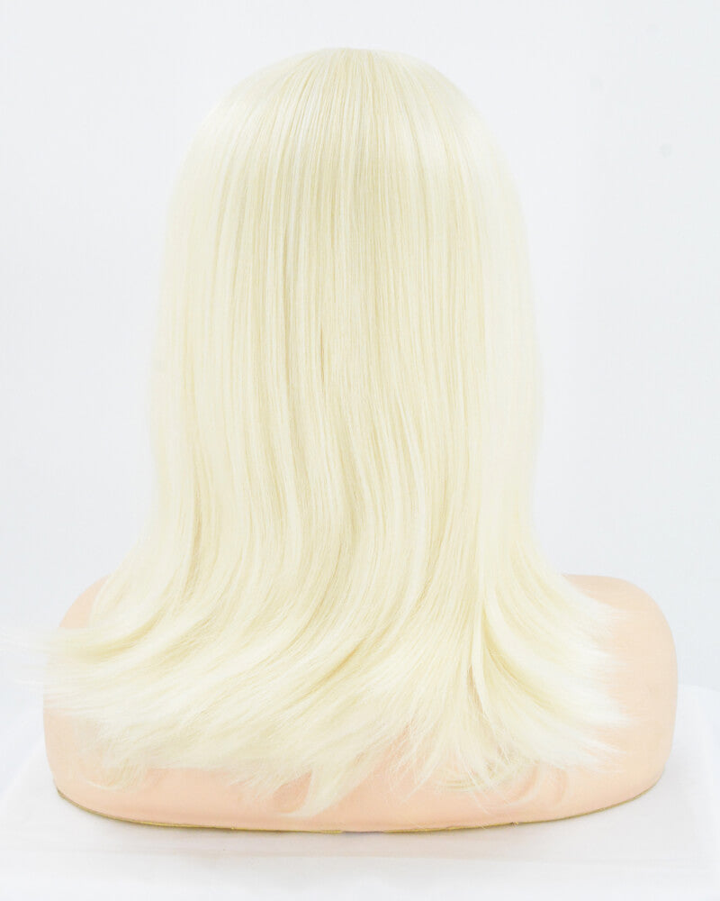 613 Platinum Blonde Straight Synthetic Lace Front Wig WW006