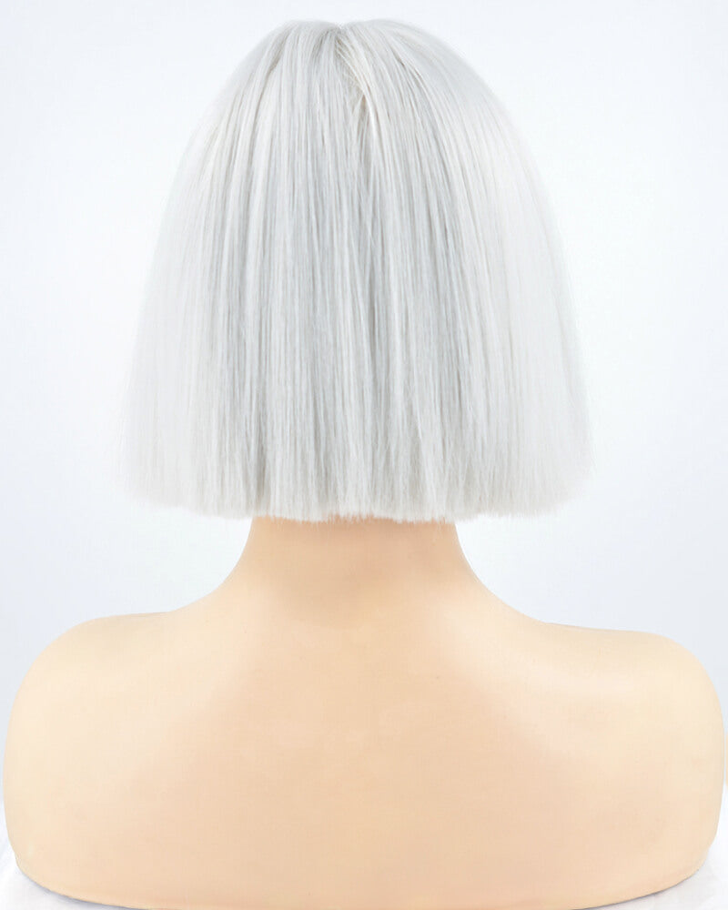 Silver Hard front Wig HW017