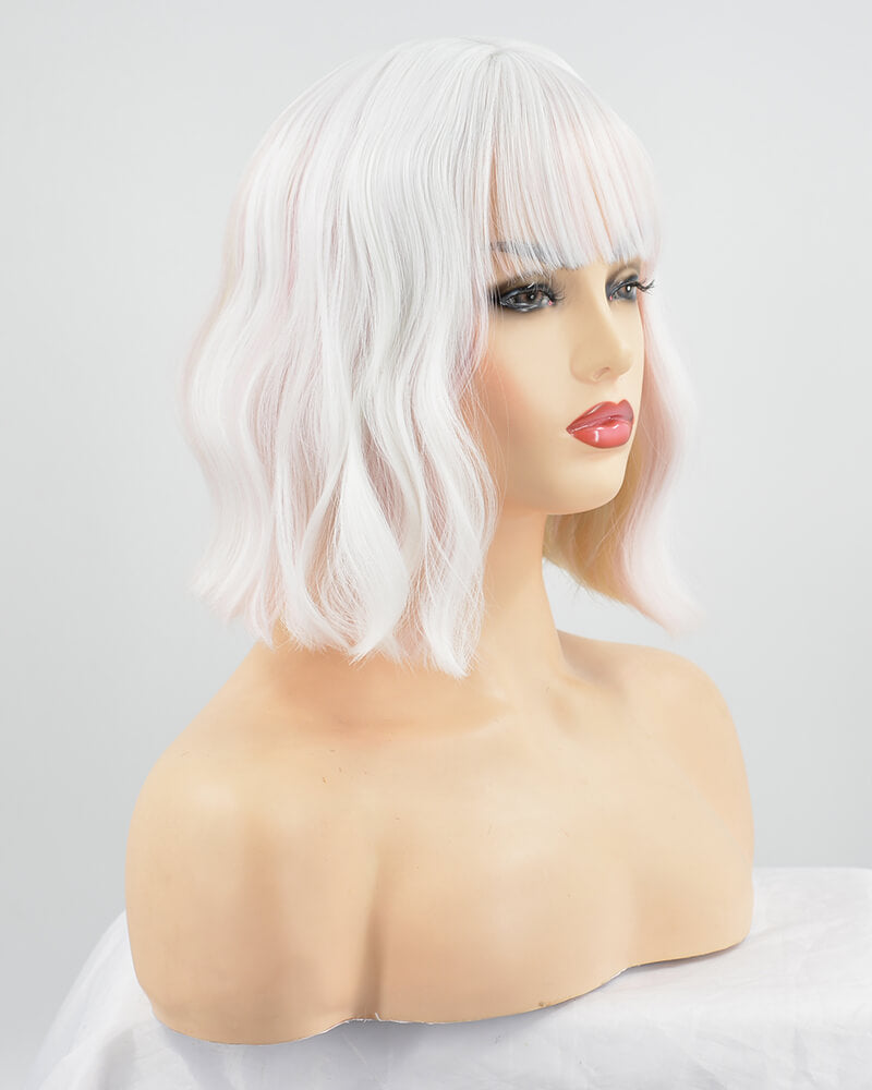 White Mixed Hard front Wig HW020