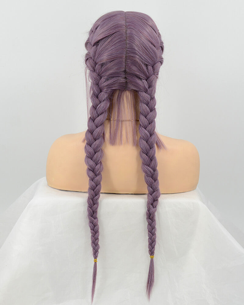 Braided Purple Synthetic Lace Front Wig WT107