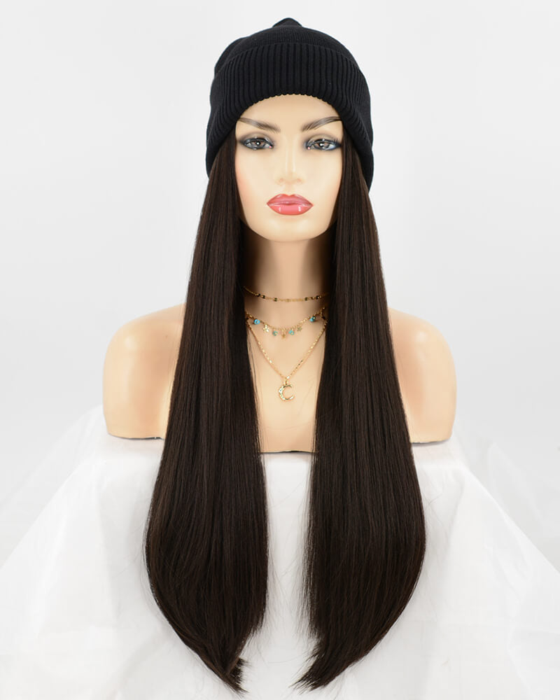 Ombre Blonde Synthetic Full Lace Wig cap