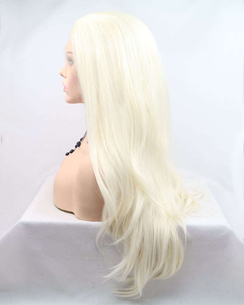 Platinum Blonde Synthetic Lace Front Wig WT098