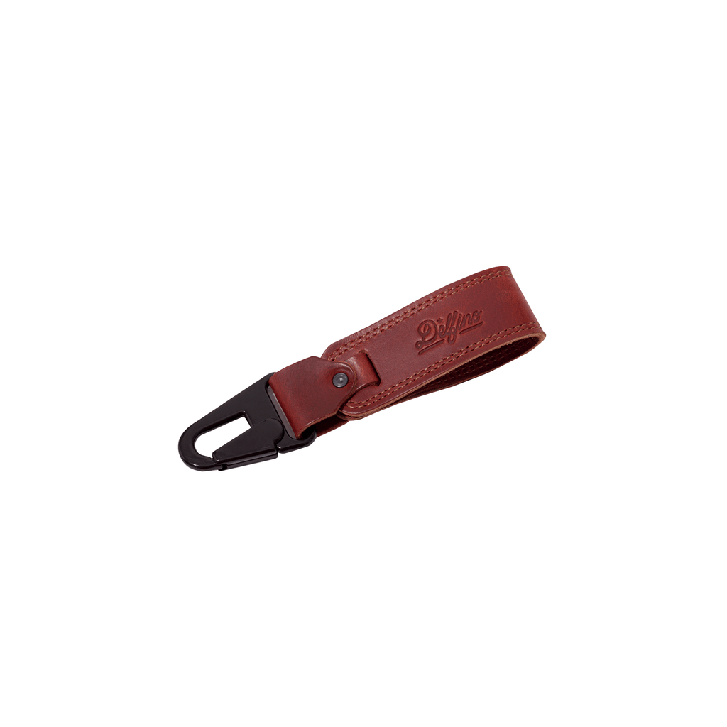 LEATHER KEYCHAIN - TOBACCO