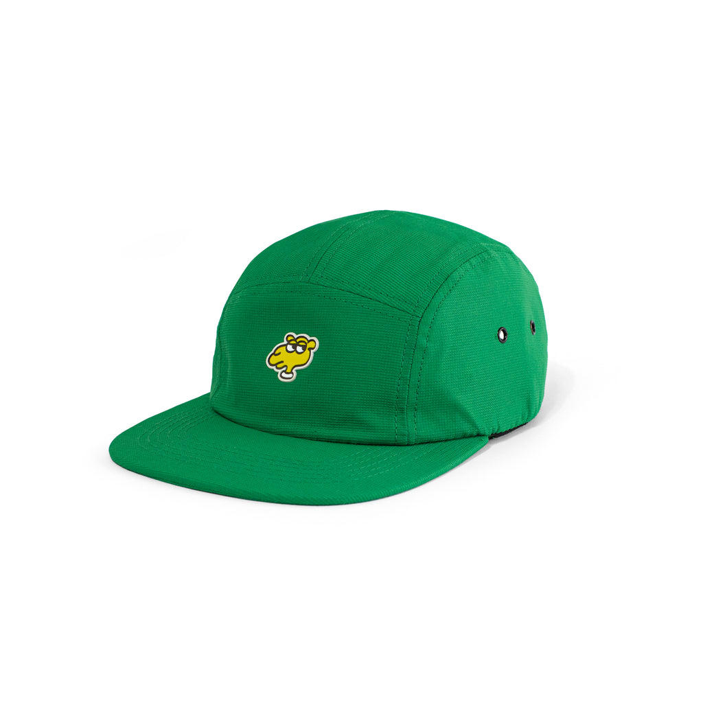 CAMEL 5 PANELS -  NYLON CAP GREEN