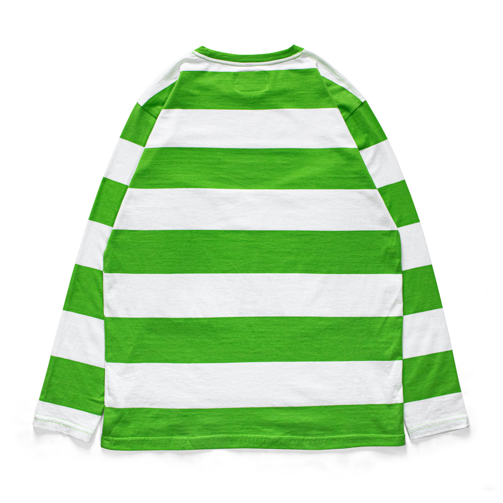 CAMEL STRIPES - LONGSLEEVE GREEN
