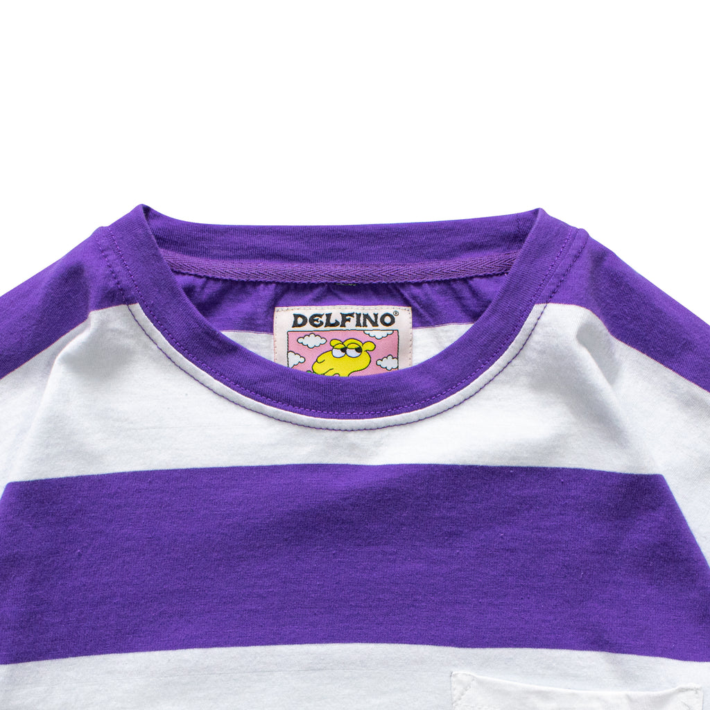 CAMEL STRIPES - LONGSLEEVE PURPURA