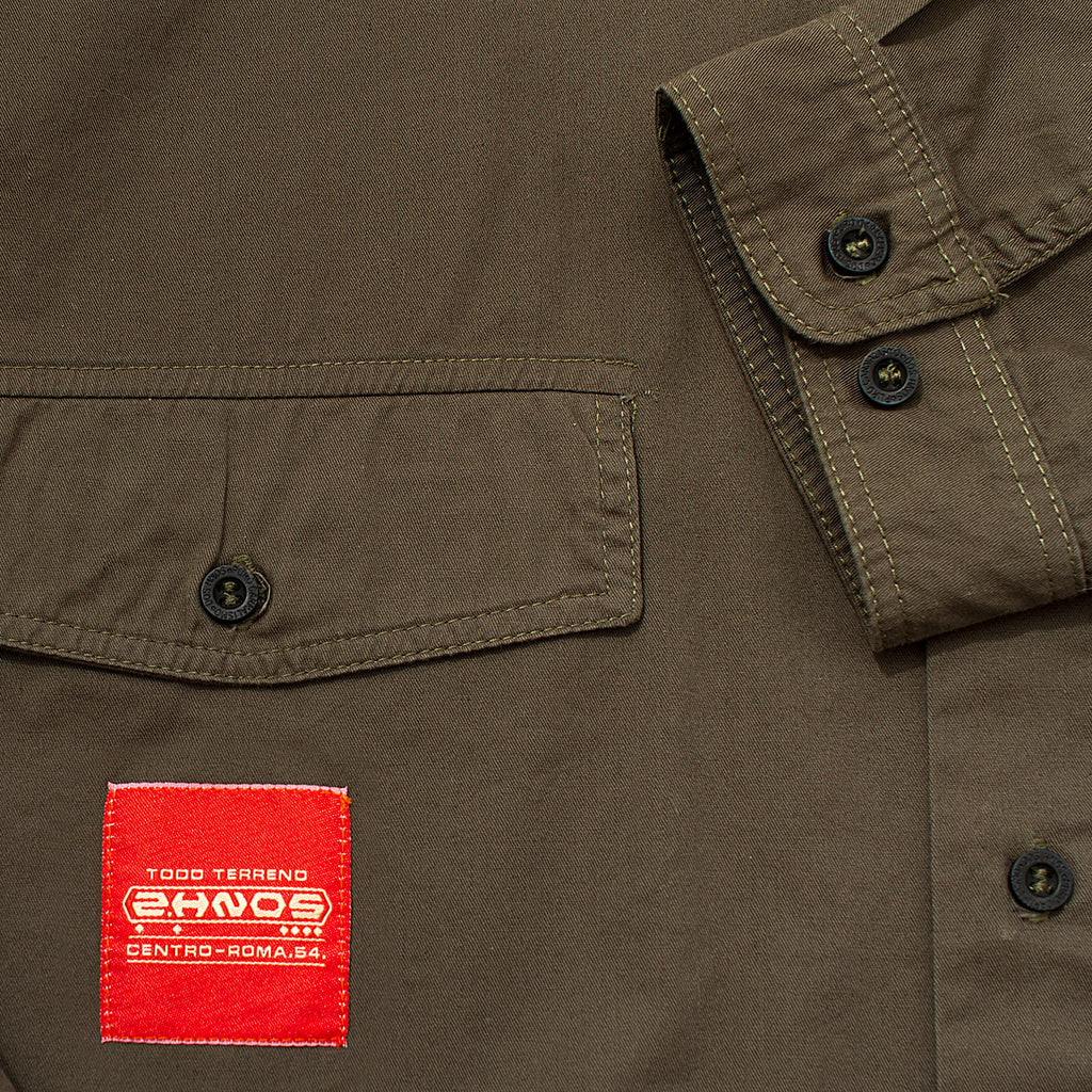 2 HERMANOS OLIVE WORK SHIRT
