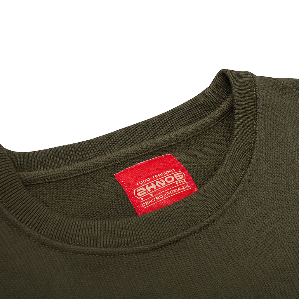 2 HERMANOS OLIVE WORK CREWNECK