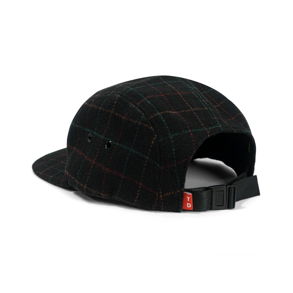 FLANNEL WOOL CAMP CAP - BLACK