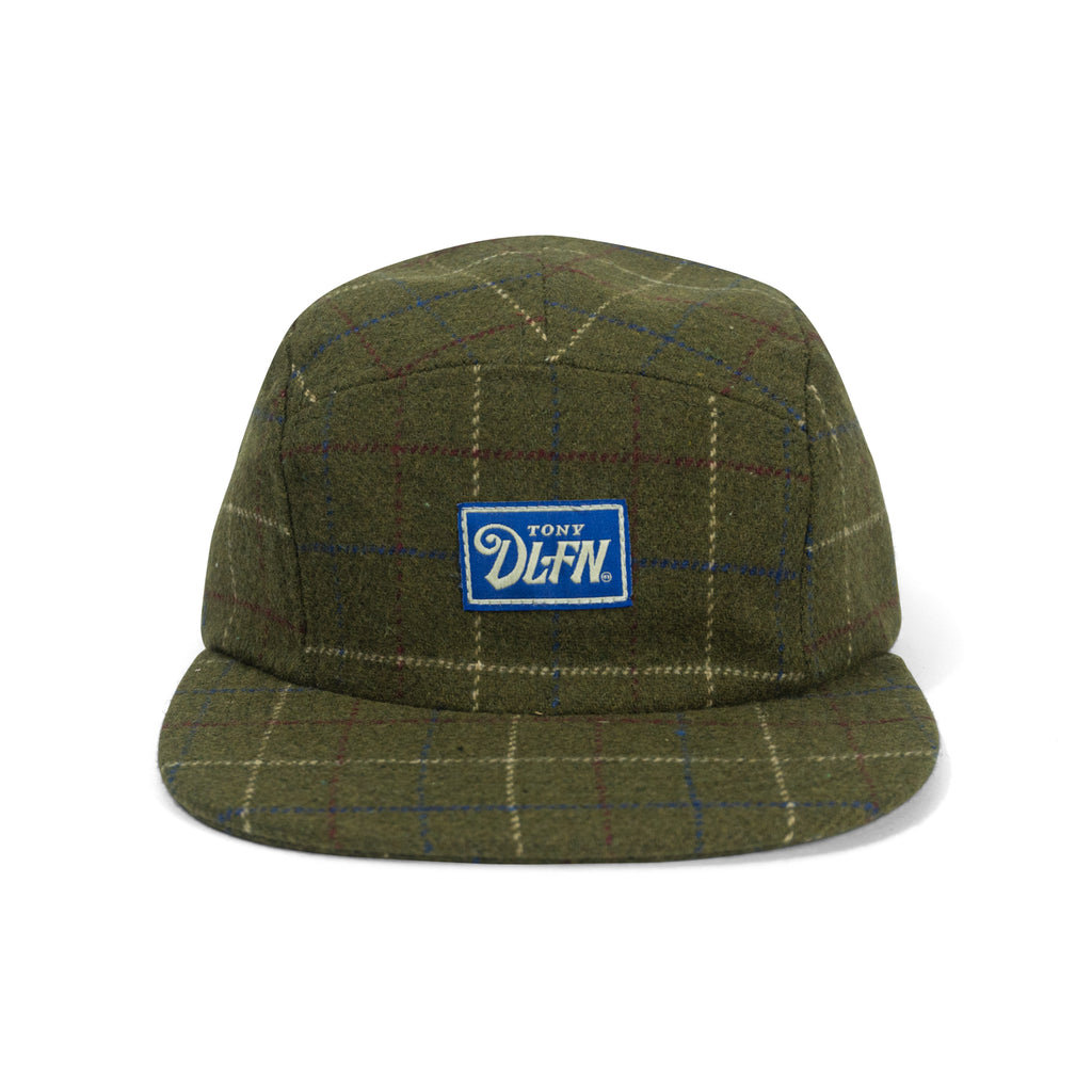 FLANNEL WOOL CAMP CAP - OLIVE