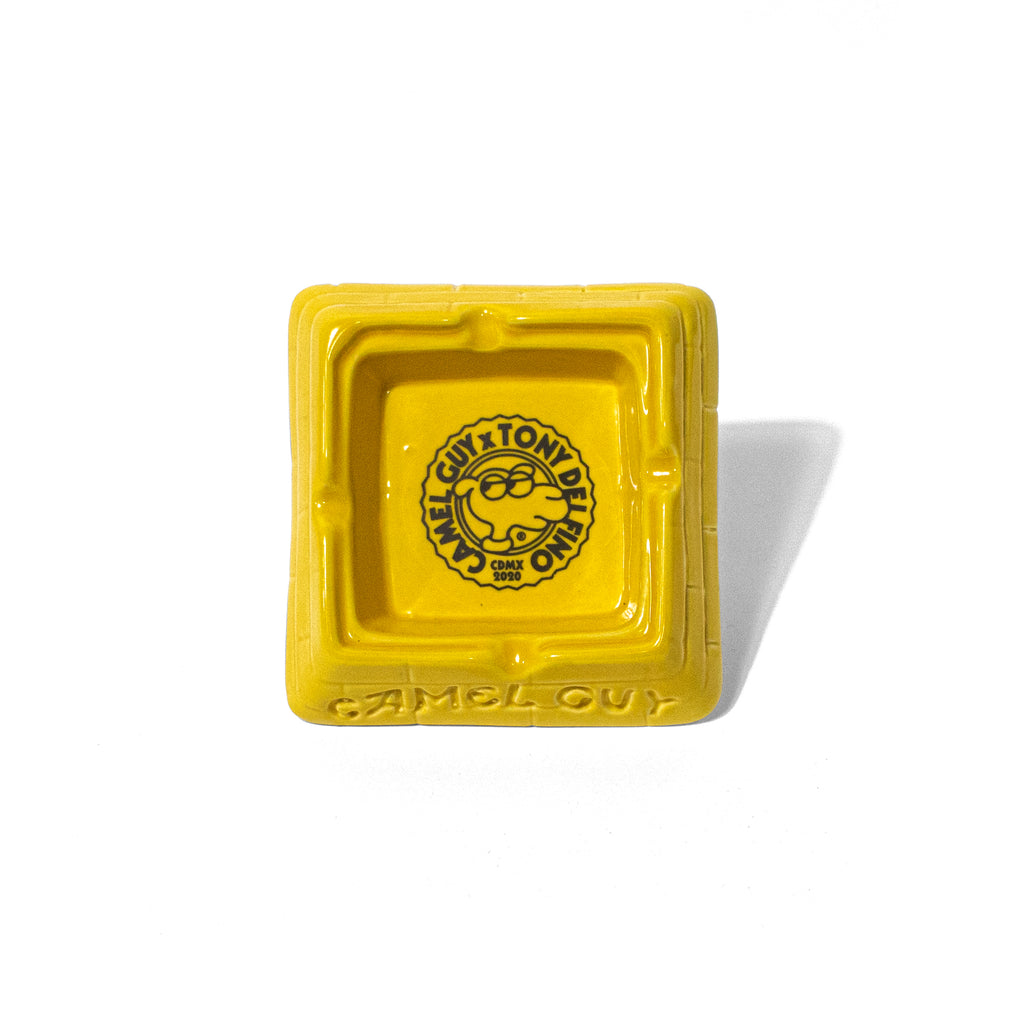 GIZA CERAMIC ASHTRAY - YELLOW