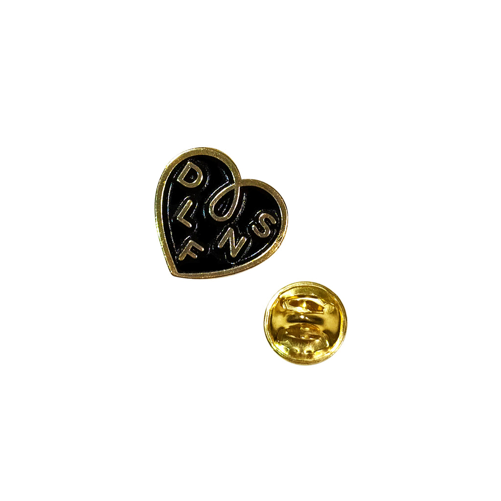 DLFN HEART LOOP  PIN - NEGRO