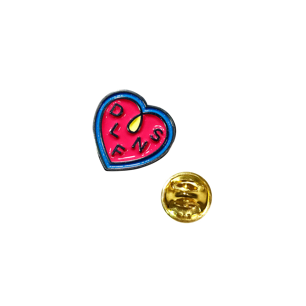DLFN HEART LOOP PIN / ROSA