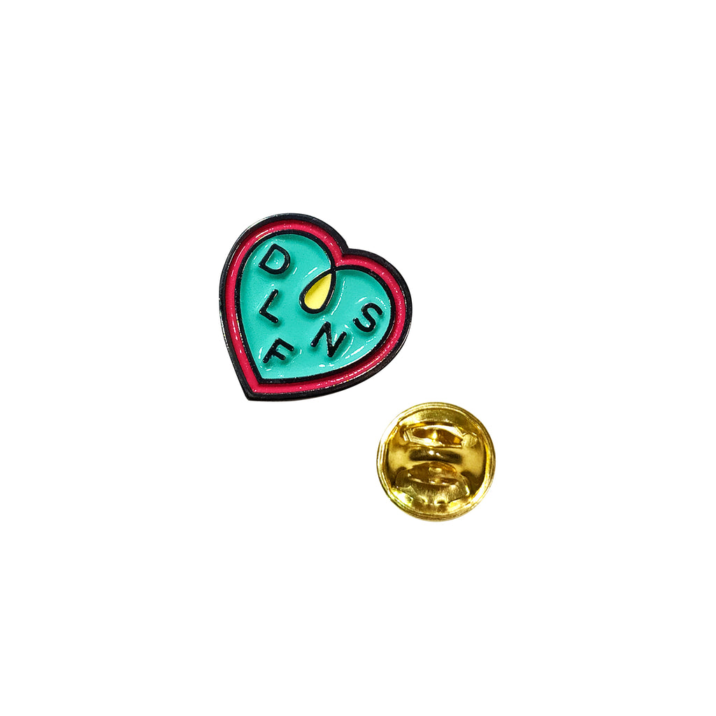 DLFN HEART LOOP PIN / TURQUESA