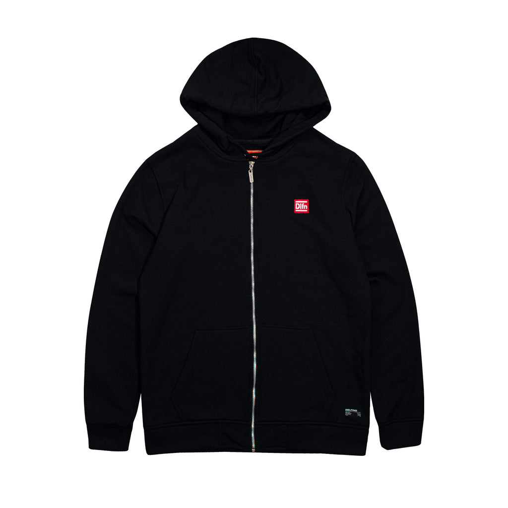 TIDE CIRCLE ZIPHOODIE - BLACK
