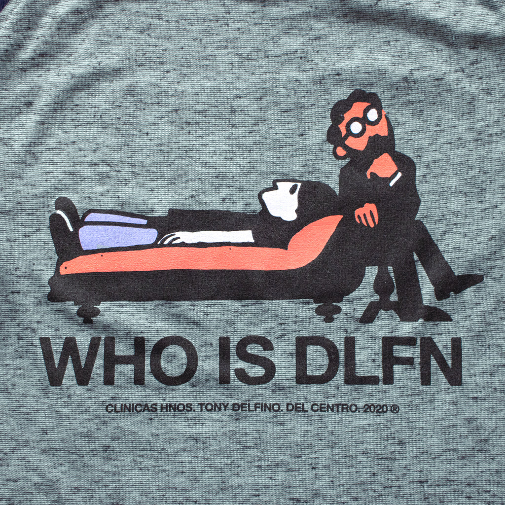 WHO IS DLFN ?    BASEBALL TEE