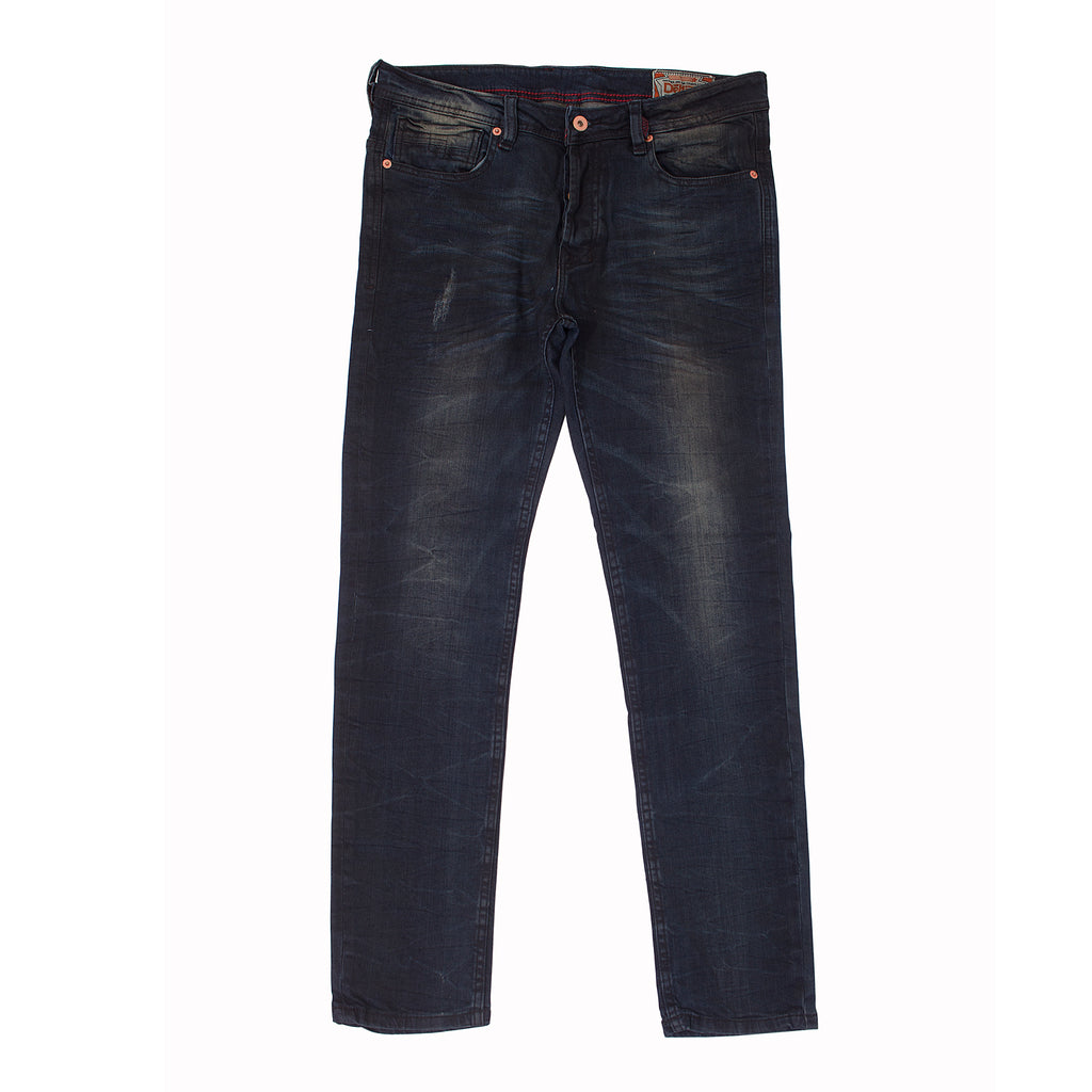 BRONCO - DENIM DESTROYED JEANS - INDIGO