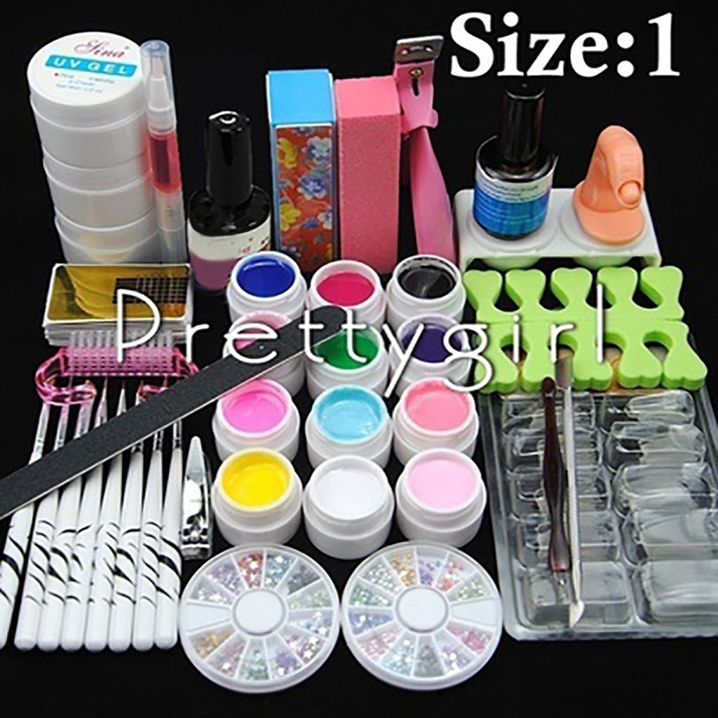 2018 New 12 Color UV Gel Nail Art Tools Sets Kits Nail Gel Nails & Tools Nail Polish Kit