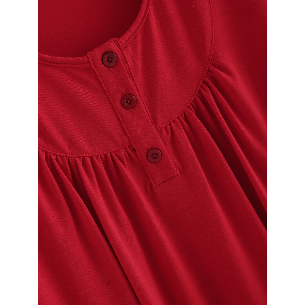Solid Pleated Detail Top