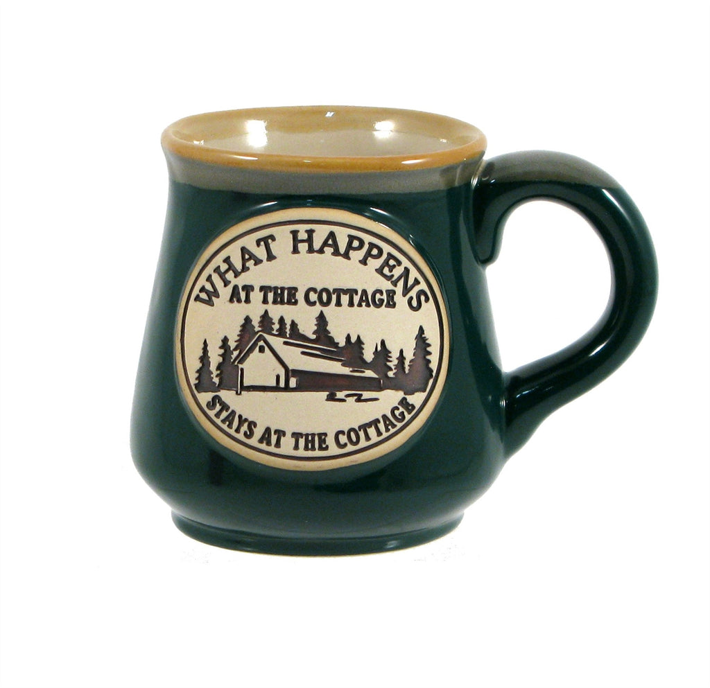 Ceramic Mug 18oz. What Ever Happens At The Cottage Stays At The Cottage