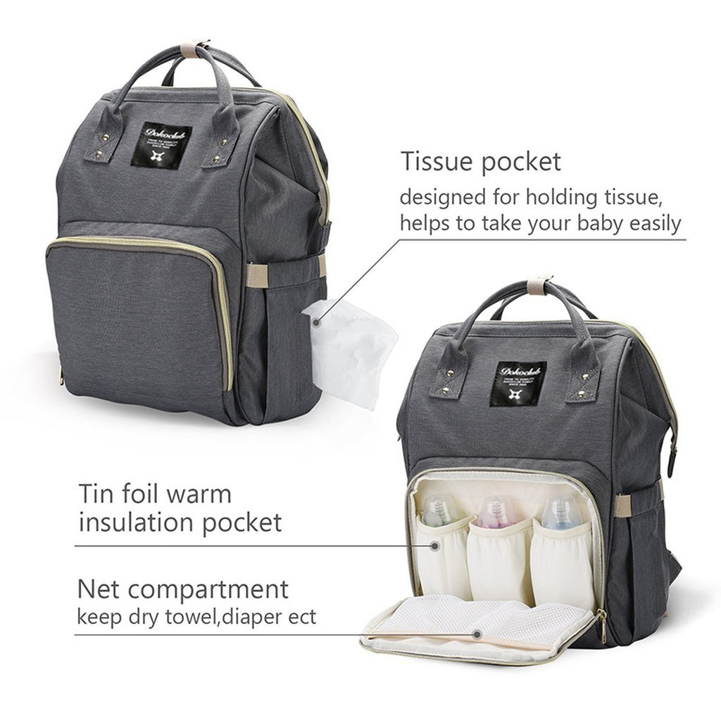 Stylish Multi-Function Waterproof Travel Backpack Nappy Bags for Baby Care, Large Capacity