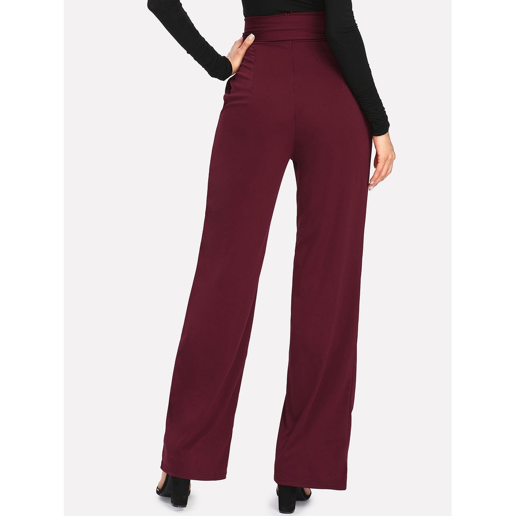 Self Tie Wide Leg Pants