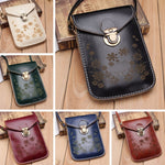 HOT Flower Women Vintage Wallet Purse Coin Cell Phone Mobile Mini Crossbody Shoulder Bag
