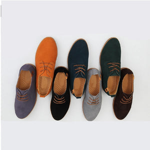 New Mens Casual Dress/Formal Oxfords Shoes Wing Tip Suede Leather Flats Lace Up Big Size Shoes 38-48