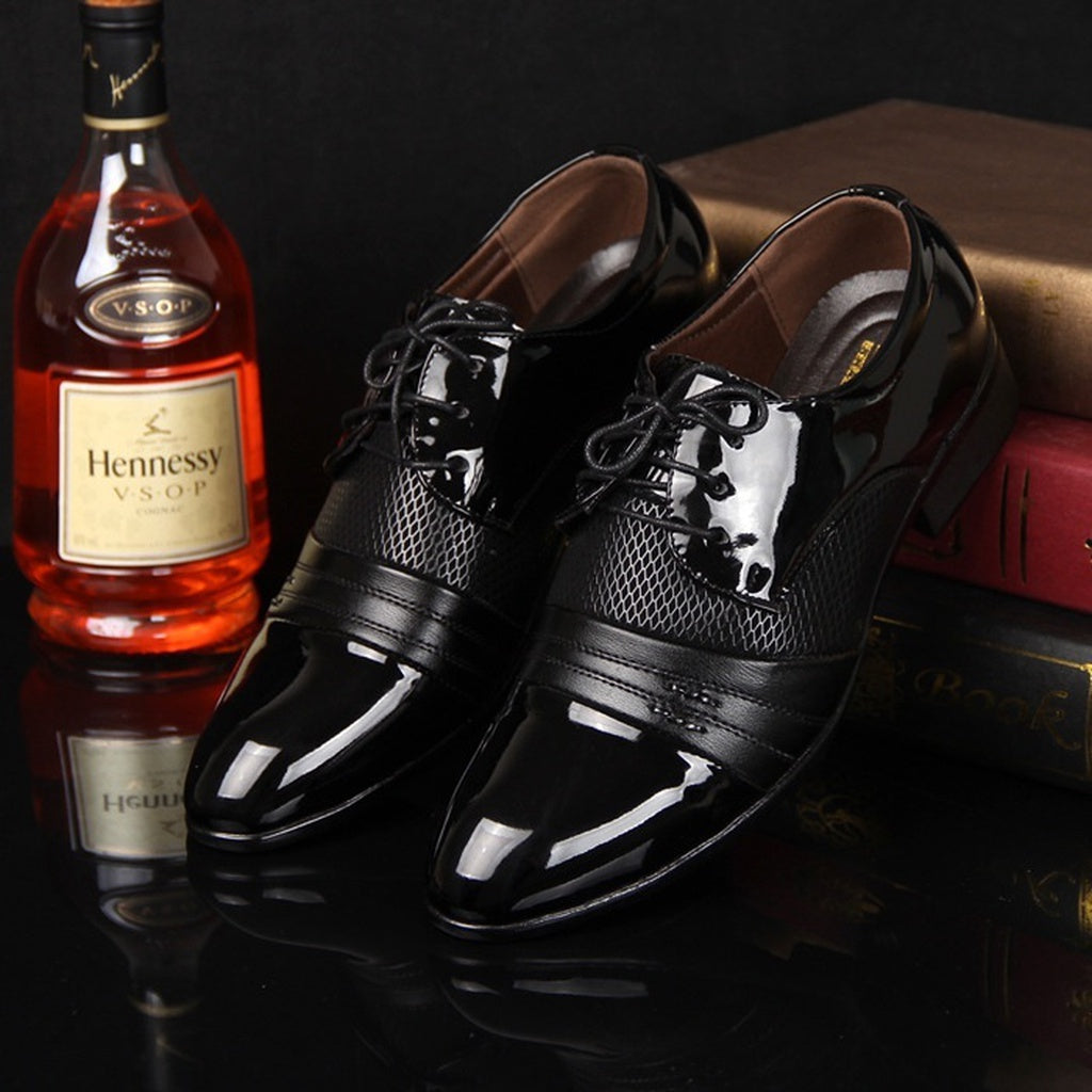 Men Shoes Flats New Fashion England PU Leather
