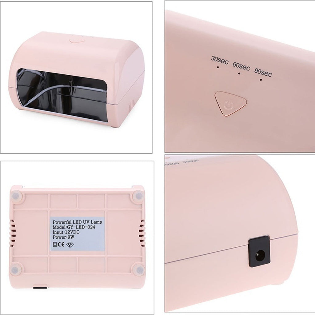 Quick Nail Drier 9W Manicure Tool 3 High Power Nail Gel Lamp