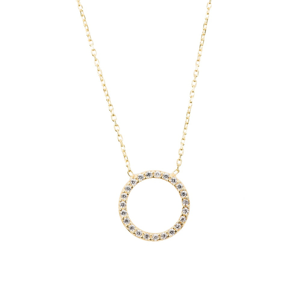 Sparkling Halo Necklace