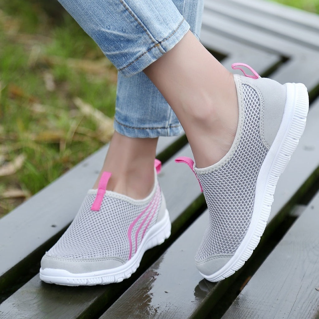 LEMAI Brand Women's Casual Sneakers Shoes Fashion Lady's Casual Shoes  Mesh Fabric Shoes