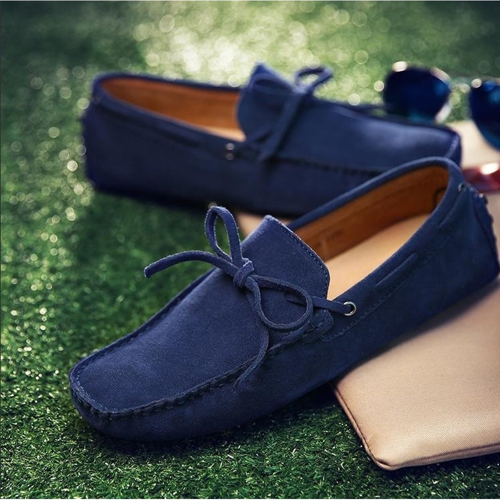 New Arrival Men's Shoes Casual Suede Leather Loafers Moccasins Slip On Driving Shoe