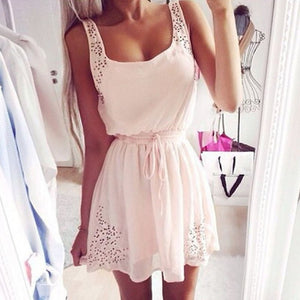 Women Summer Dress Slim Sundress Mini Dress