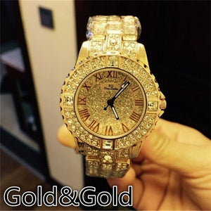 Diamond quartz watches for women's fashion Crystal jewelry (Color: Silver,rose gold,gold)