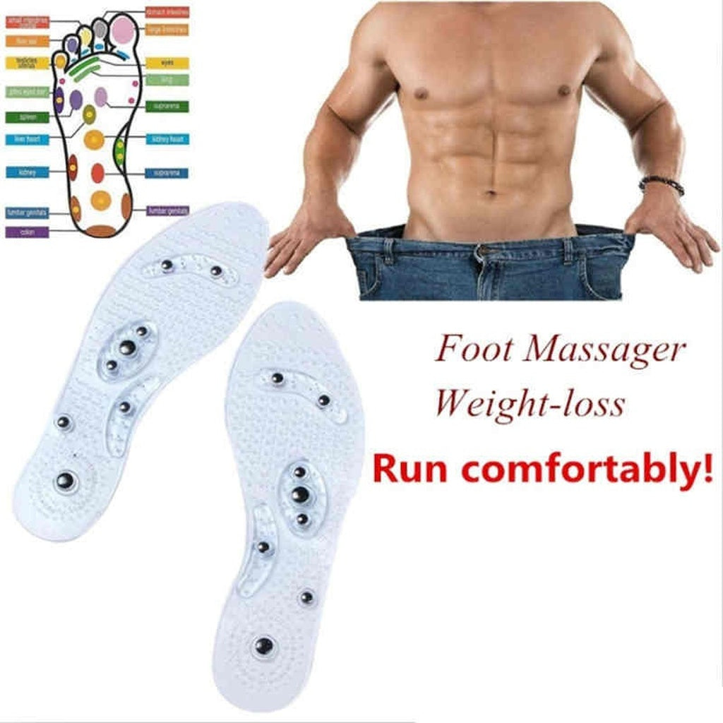 Men and Women Magnetic Therapy Transparent Silicone Anti-fatigue Health Care Massage Insoles