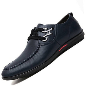 Men's Fashion Genuine Leather Shoes Italian Designer Soft Driving Shoes Plus Size 38-48