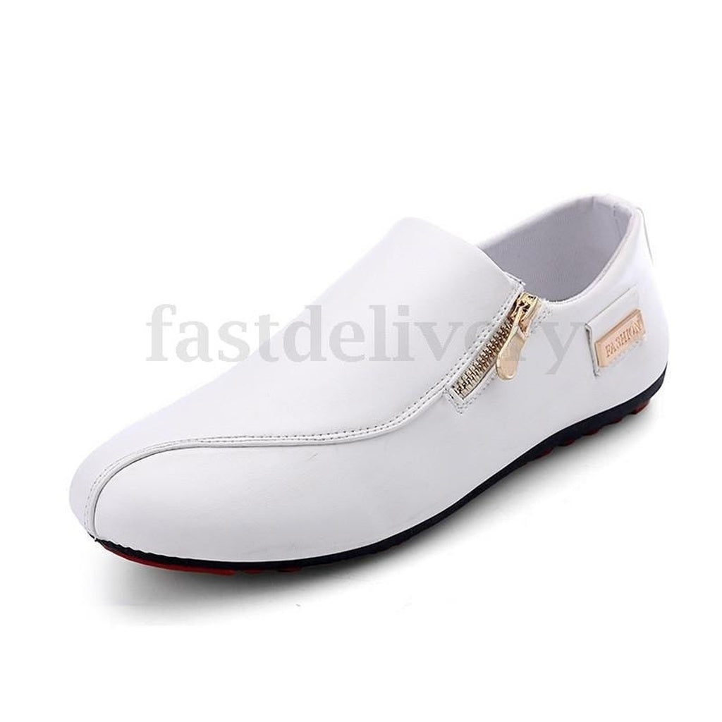 Fashion Men's England Breathable Sneakers White Recreational Casual Shoes