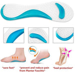 Non-Slip Shoes Cushion Silicone Gel Pads Shoes Insole Pain Relief Massage Feet Care