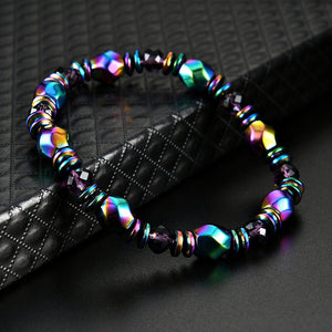 Multicolor Magnetic Hematite Stone Bead Bracelet  Health Care Magnet  Bracelet Men's Jewelry