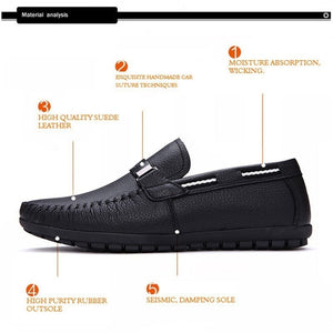 High Quality Genuine Leather Men's Soft Moccasins Loafers Comfortable Driving Shoes