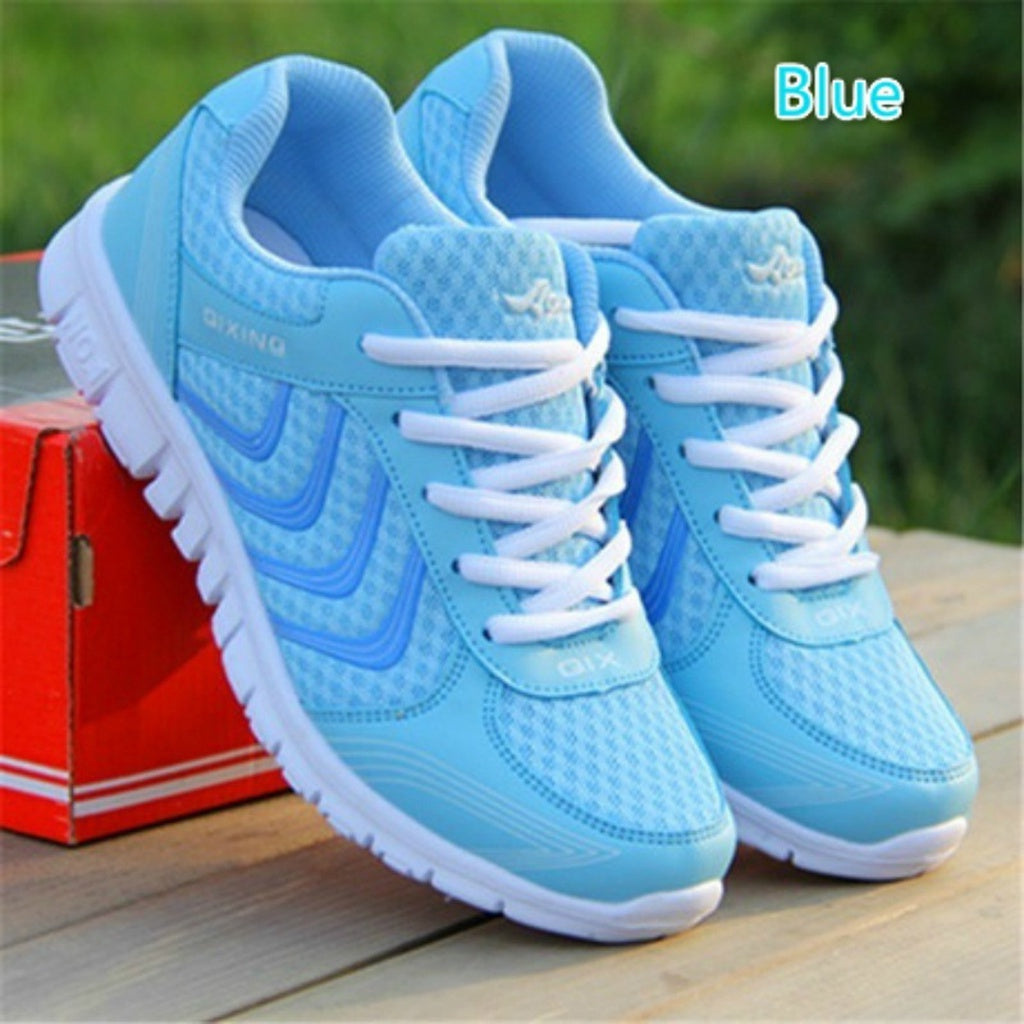 Unisex  Sneakes Mesh Shoes Breathable Casual Running Shoes Lace Up Sport Shoes for Men Women