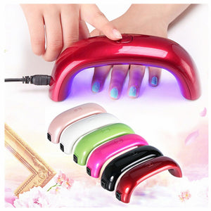 9W  Women Fashion USB LED Lamp Light For Nail Dryer Nail Art Tools 8 Colors