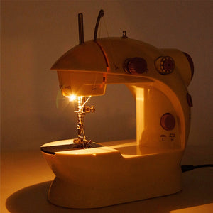 Multifunction Electric Mini Sewing hine Send Power Household Desktop With Led 16.5x19cm