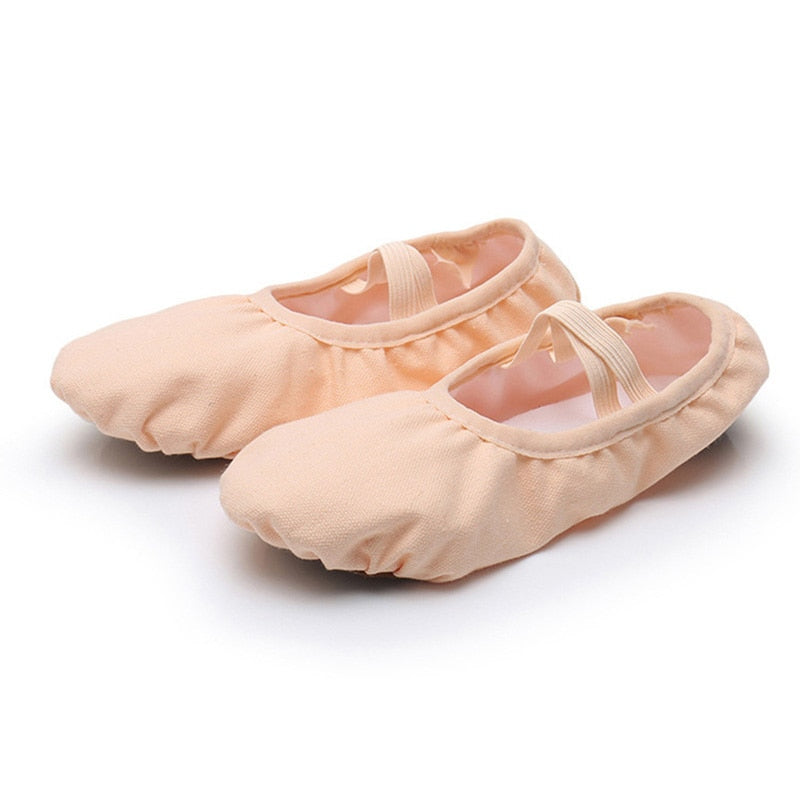 USHINE New professional full rubber band shoelace body-shaping training Yoga slippers shoes ballet dance shoes kids girls woman