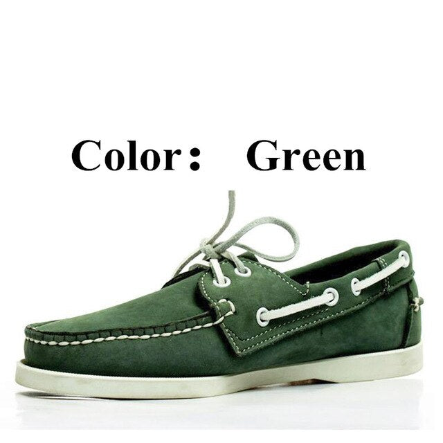 Men Women Spinnaker Docksides Classic Nubuck Genuine Leather Loafers Boat Shoes A093