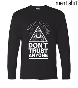 for gamers Don't Trust Anyone Illuminati All Seeing Eye T-Shirt 2017 spring men long sleeve t shirt cotton high quality top tees