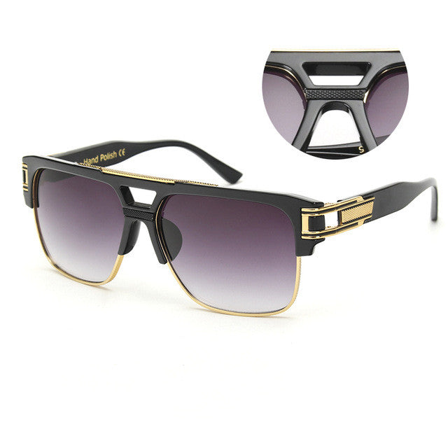 ROYAL GIRL TOP Quality Luxury Sunglasses Vintage Oversize Square Sun Glasses Unisex