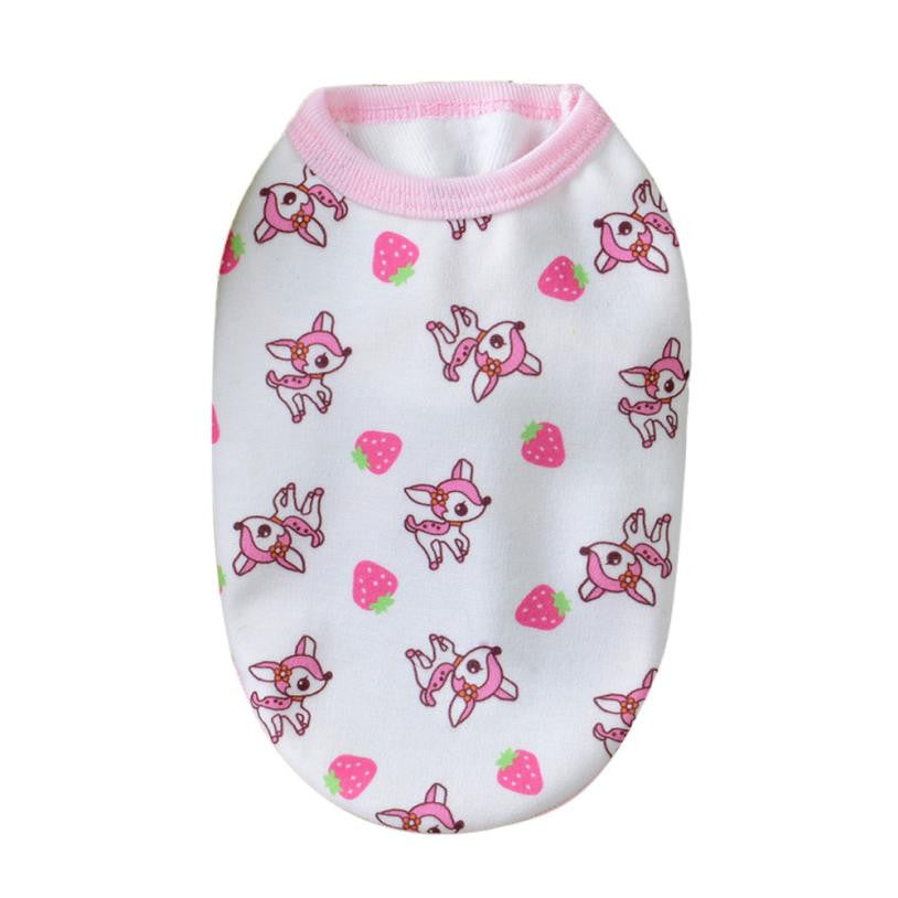 Small Dog Clothes Autumn/winter Coat Printed
