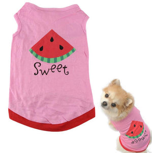 Summer Pet Clothes For Dogs With Watermelon Print